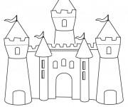 Coloriage et dessins gratuit Château de Sable couleur à imprimer