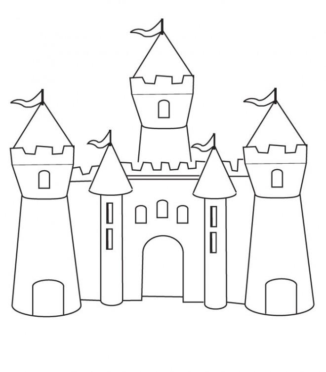 Coloriage Chateau De Sable Couleur Dessin Gratuit A Imprimer