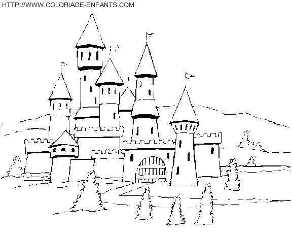 Coloriage et dessins gratuits Château des Rois à imprimer