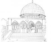 Coloriage et dessins gratuit Mosquée Jérusalem à imprimer