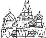 Coloriage et dessins gratuit Palais à Moscow à imprimer