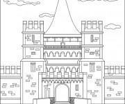 Coloriage et dessins gratuit Palais Britannique en noir et blanc à imprimer