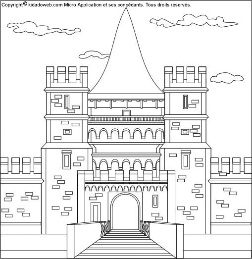 Coloriage et dessins gratuits Palais Britannique en noir et blanc à imprimer