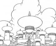 Coloriage et dessins gratuit Palais d'Aladin à imprimer