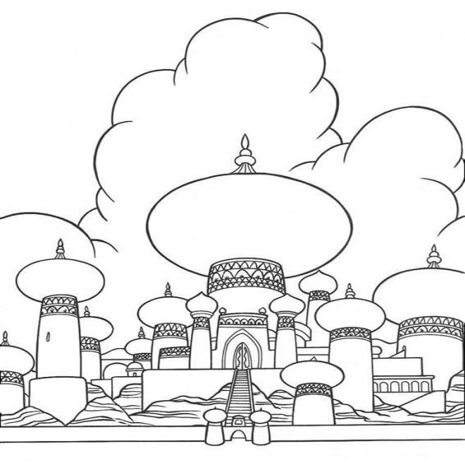 Coloriage et dessins gratuits Palais d'Aladin à imprimer