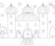 Coloriage et dessins gratuit Palais du Sultan à imprimer