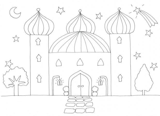 Coloriage et dessins gratuits Palais du Sultan à imprimer