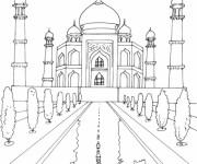 Coloriage et dessins gratuit Palais en couleur à imprimer