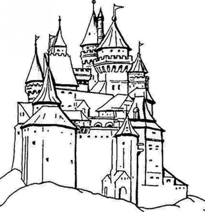 Coloriage et dessins gratuits Palais européen à imprimer