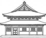 Coloriage et dessins gratuit Palais Japonais à imprimer