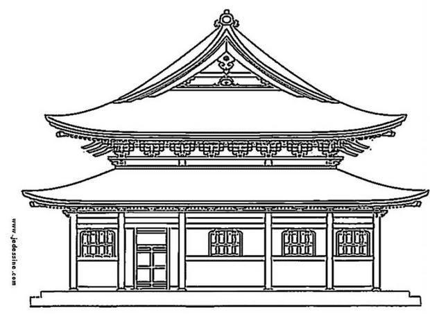 Coloriage et dessins gratuits Palais Japonais à imprimer