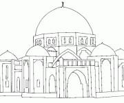 Coloriage et dessins gratuit Palais stylisé à imprimer