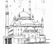 Coloriage et dessins gratuit Palais Turk en ligne à imprimer