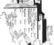 Coloriage et dessins gratuit Palais vectoriel à imprimer