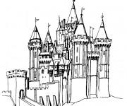 Coloriage et dessins gratuit Un Palais à télécharger à imprimer
