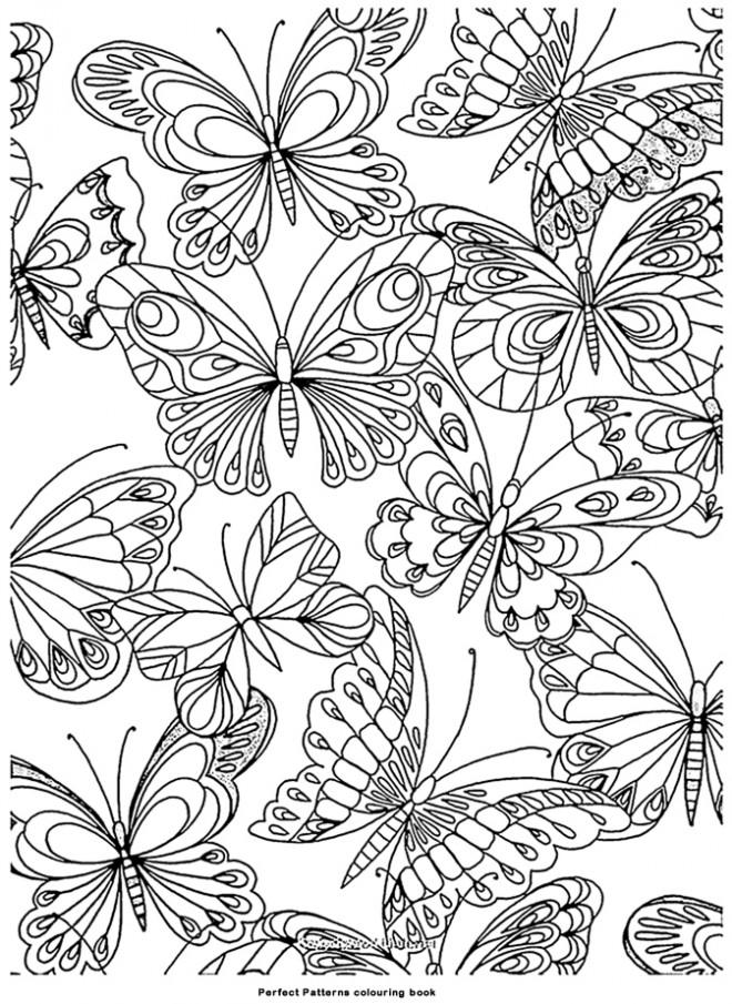 Coloriage et dessins gratuits Adulte Papillons à imprimer