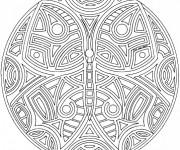 Coloriage et dessins gratuit Mandala difficile à imprimer