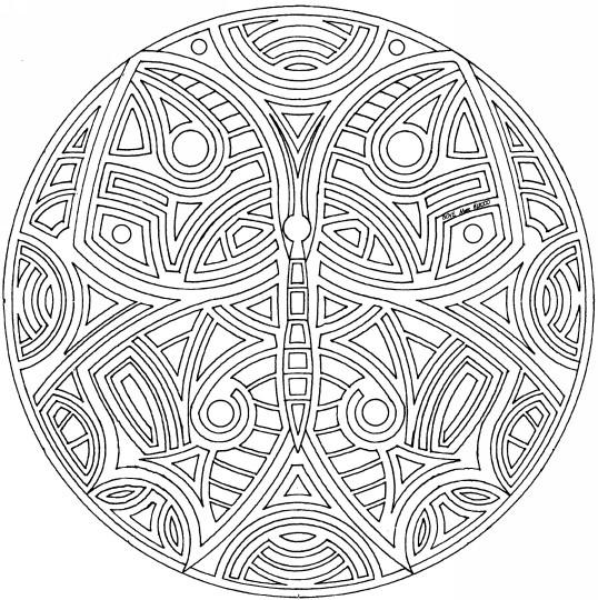 Coloriage et dessins gratuits Mandala difficile à imprimer