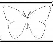 Coloriage Papillon à compléter facile