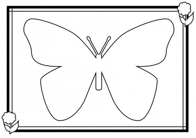Coloriage et dessins gratuits Papillon à compléter facile à imprimer