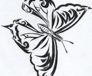 Coloriage Papillon Artistique Difficile