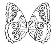 Coloriage et dessins gratuit Papillon au crayon facile à imprimer