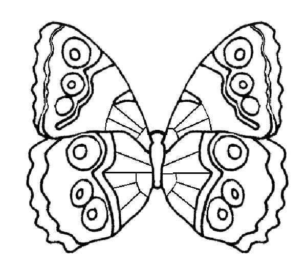 Coloriage et dessins gratuits Papillon au crayon facile à imprimer