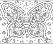 coloriage et dessins gratuit papillon difficile 28 imprimer
