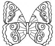 Coloriage dessin  Papillon Difficile 9