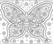 Coloriage Papillon Difficile Destressant