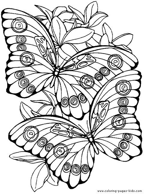 Coloriage et dessins gratuits Papillon Difficile vecteur à imprimer