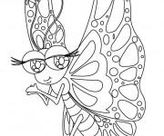 Coloriage Papillon Kawaii Difficile