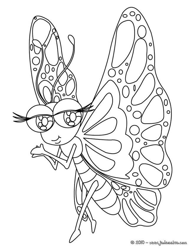 Coloriage papillon kawaii difficile dessin gratuit imprimer - Coloriage de papillon ...