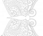 Coloriage Papillon Magique Anti-Stress