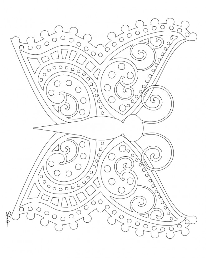 Coloriage Anti Stress Numerote A Imprimer.Coloriage Papillon Magique Anti Stress Dessin Gratuit A Imprimer
