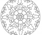 Coloriage Papillon Mandala Facile