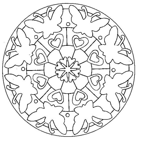 Coloriage Papillon Mandala Facile Dessin Gratuit à Imprimer
