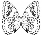 Coloriage Papillon Maternelle Difficile