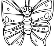 Coloriage Papillon mignon facile