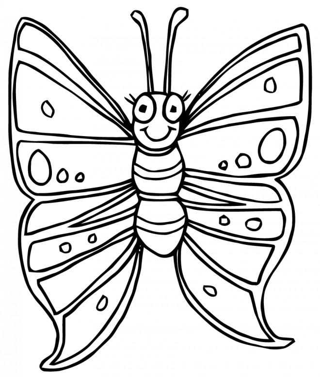 Coloriage et dessins gratuits Papillon mignon facile à imprimer
