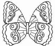 Coloriage Papillon simple à colorier