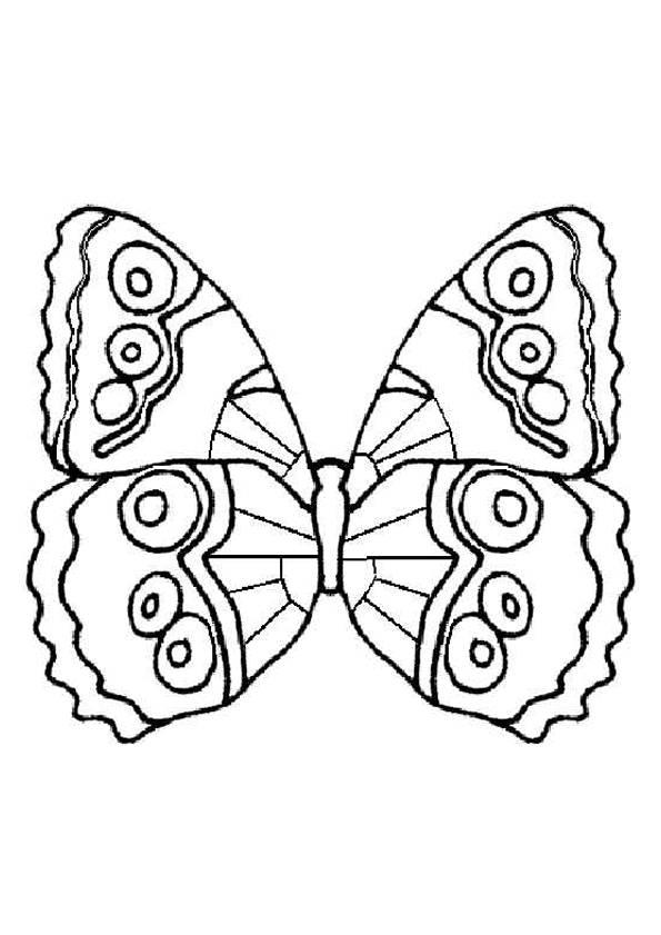 Coloriage Papillon Simple à Colorier Dessin Gratuit à Imprimer