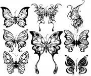 Coloriage Papillons Artistique Adulte