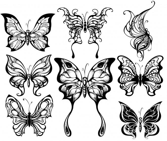 Coloriage et dessins gratuits Papillons Artistique Adulte à imprimer