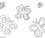 Coloriage et dessins gratuit Des Papillons couleur à imprimer