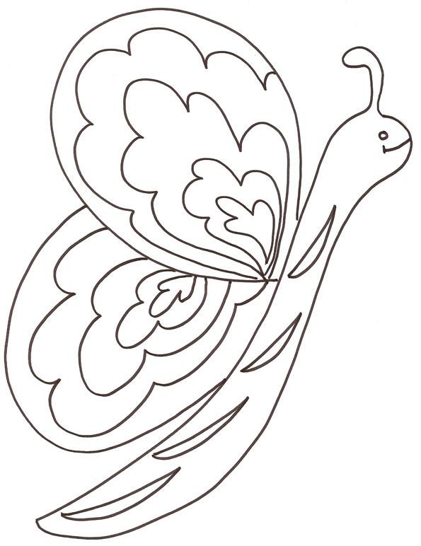Coloriage et dessins gratuits Joli Papillon pour enfant à imprimer