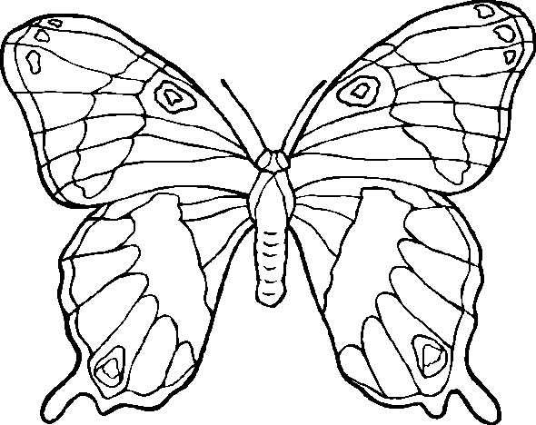 Coloriage et dessins gratuits Papillon à découper à imprimer