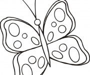 Coloriage et dessins gratuit Papillon à imprimer et découper à imprimer