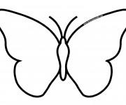 Coloriage et dessins gratuit Papillon facile à imprimer