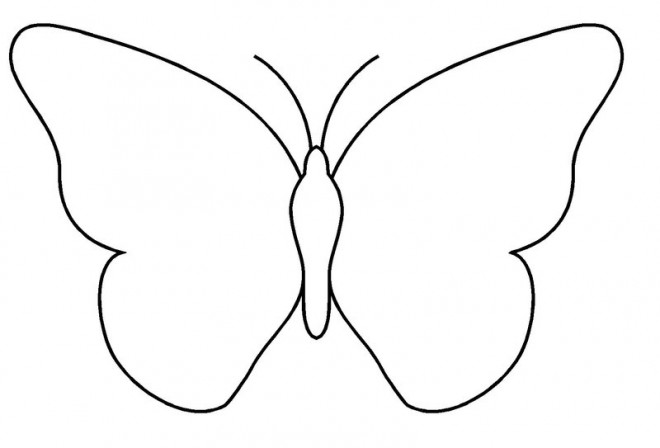 Coloriage papillon facile colorier dessin gratuit imprimer - Dessin papillon a decouper ...
